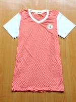 ขายส่ง:เสื้อยืดผ้าคอตตอนเนื้อดีแต่งปักแบบน่ารัก/อก34