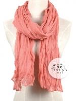 ผ้าพันคอแฟชั่น Cotton Candy : สี Melon Red