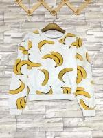 ส่ง:เสื้อยืดแขนยาวลายกล้วย/อก40