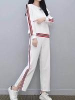 ส่ง:งานจีน2ชิ้นแบบเก๋ๆ/เสื้ออก42+กางเกงเอวยืด24-40
