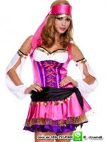 ชุดแฟนซีโจรสลัดสาวสีชมพู ชุดโจรสลัด ชุดฮาโลวีน ชุดแฟนซีสีชมพู ชุดคอสเพลย์ ชุดแฟนซี ชุดทหาร