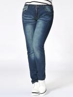 กางเกงยีนส์ไซส์ใหญ่ ทรงดินสอ ขายาว (L,XL,2XL,3XL,4XL)