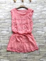 ส่ง:งานจีนเสื้อตัวยาวต่อสม็อกเอวยืดได้ทรงใส่พริ้วๆ/อก32