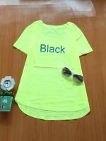 ขายส่ง:งานจีนเสื้อสะท้อนแสงสีสดใสใส่ซัมเมอร์นี้สวยเด่น/อก36/เหลืองมะนาว