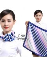 ผ้าพันคอจัตุรัส ผ้าพันคอ uniform รหัส S16 - size 60 x 60 cm.