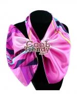 ผ้าพันคอสำเร็จรูป ผ้าไหมซาติน : TB005 - size 65*35 cm