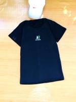 ขายส่ง:พร้อมส่งเสื้อยืดคอกลมเก๋ๆแต่งปักแมว&ต้นตะบองเพชร/อก34/ดำ