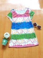 ขายส่ง:งานจีนเสื้อยืดลายสลับสีแบบน่ารัก/อก32