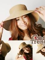 หมวกแฟชั่นเกาหลี หมวกกันแดดทรงปีกกว้าง