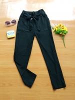 ขายส่ง:กางเกงขาเดฟเก๋ต่อสาย2ข้างผูกโบว์/เอวยืดได้23-32