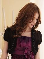 เสื้อคลุมไหล่แขนตุ๊กตา สีดำ/สีขาว (XL,2XL,3XL,4XL)