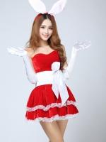 ชุดบันนี่กระต่ายสีแดง ใส่ช่วงเทศกาลคริสมาสต์ได้น่ารักมาก