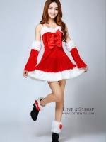 พร้อมส่งชุดคริสมาสต์ ซานตี้เกิร์ลแบบใหม่สวยมากมีโปว์ติดช่วงหน้าอกราคาถูกมาก