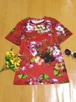 ขายส่ง:งานจีนเสื้อยืดลายดอกในตัว/อก38
