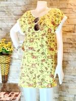 ขายส่ง:พร้อมส่งชุด2ชิ้นน่ารักผ้าลายคิตตี้/อก36/เหลือง
