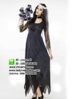 ชุดเจ้าสาวฮาโลวีน ชุดซอมบี้ ชุดแฟนซีฮาโลวีน ชุดคอสเพลย์ผีดิบ ชุดผีดิบ ชุดแม่มด ชุดซาตาน ชุดเดวิล