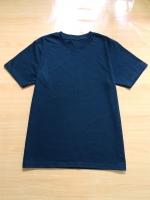 ขายส่ง:พร้อมส่งเสื้อยืดคอกลมสีดำล้วนผ้าคอตตอน100%/อก40