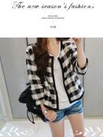 [ขายดีมากสไตล์ญี่ปุ่นแบรนด์ VIVI] พร้อมส่ง ATA436 เสื้อคลุมลายสก๊อต แบบน่ารักแต่งง่าย #516