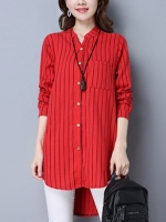 Pre:สินค้าจีนนำเข้า:เสื้อยาว (มี2สี:แดง,ม่วง)