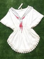 ขายส่ง:งานจีนเสื้อทรงค้างคาวแต่งริมกุ๊นผ้าลูกไม้แบบน่ารัก/อก38