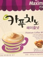 Pre Order / ขายดีอันดับ 1 Maxim Cappuccino Hazelnut Premium Coffee Mix ทำจากกาแฟอาราบิก้า 100% ขนาด 10 ซอง หอมกรุ่น รสชาติเยี่ยมมากๆค่ะ