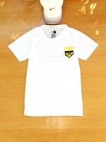 ขายส่ง:พร้อมส่งเสื้อยืดคอกลมแต่งพิมพ์armyแต่งปักอาร์ม/อก34/ขาว