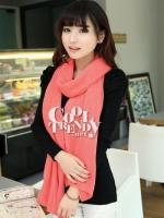 ผ้าพันคอไหมพรม ผ้า cashmere scarf size 220*30 cm - สี Rose pink