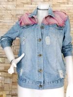 ขายส่ง:เสื้อคลุมแจ็คเก็ตยีนส์แท้แบบเก๋ๆสวยๆ/อก39
