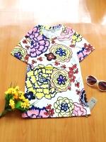ขายส่ง:งานจีนเสื้อลายดอกใหญ่แบบเก๋ๆสดใส/อก33