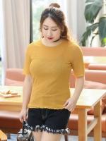 เสื้อยืดสีเหลือง แขนสั้น (XL,2XL,3XL)