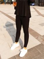กางเกงผ้ายืดขายาว สีดำ (XL,2XL,3XL)