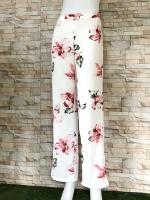 ส่ง:รุ่นฮิตขายดี*กางเกงลายดอกขาบานพริ้วๆทรงสวย/เอวยืด25-36