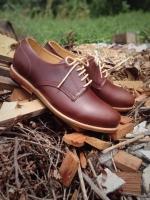 รองเท้าผู้ชาย | รองเท้าแฟชั่นชาย Red Brown Cut Shoes หนัง Oiled Pull Up