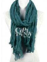 ผ้าพันคอแฟชั่น Hot Basic : สี Pine Green