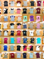 ส่งถูกสุดคุ้ม:เสื้อยืดคละลาย>อก34x20ตัว (ราคานี้เฉพาะสินค้ายังไม่รวมส่งคลิ๊กดูรายละเอียดเพิ่มเติม)