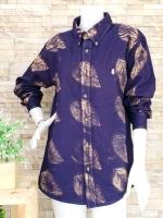 ขายส่ง:เสื้อยีนส์ฟอกแบบลายเก๋ๆปกเชิ้ตแขนยาว/อก42