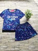 ส่ง:งานจีนเช็ท2ชิ้นแบบน่ารัก/เสื้ออก38+กางเกงเอวยืด23-40
