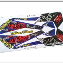 สติ๊กเกอร์ MSX-TAKEGAWA ติดรถสีขาว