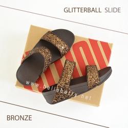 * NEW * FitFlop : GLITTERBALL Slide : Bronze : Size US 5 / EU 36