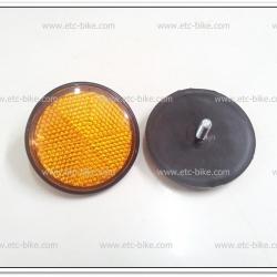 ทับทิมสะท้อนแสงสีเหลือง No.10 ทรงกลม เกลียวน๊อต 6mm. เส้นผ่าศูนย์กลาง 6cm. (คู่ละ)