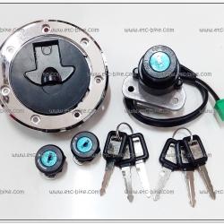 สวิทย์กุญแจ KR-R ชุดใหญ่ (สวิทย์สตาร์ท+ฝาถัง+กุญแจฝากระเป๋า)