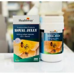 นมผึ้งHealthway Premium Royal Jelly 1,600 mg HDA 6%(365ซอฟเจล)