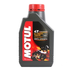 MOTUL 4T H-TECH 100 SAE10W40 100%SYNTHETIC ขนาด 1 ลิตร