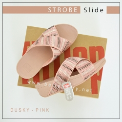 FITFLOP : Strobe Slide : Dusky Pink : US 5 / EU 36