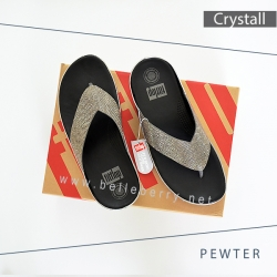 FitFlop : CRYSTALL : Pewter : Size US 6 / EU 37