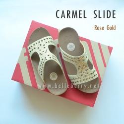 **พร้อมส่ง** FitFlop : CARMEL Slide : Rose Gold : Size US 5 / EU 36