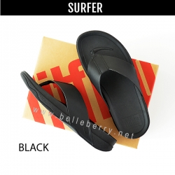 FitFlop : Surfer (Leather) : Black : Size US 09 / EU 42