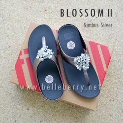 **พร้อมส่ง** FitFlop : BLOSSOM II : Nimbus Silver : Size US 8 / EU 39