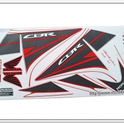สติ๊กเกอร์ CBR150-R ปี 2013 รุ่น 9 ติดรถสีแดง
