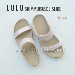 FitFlop Lulu Shimmersuede Slide : Nude : Size US 6 / EU 37